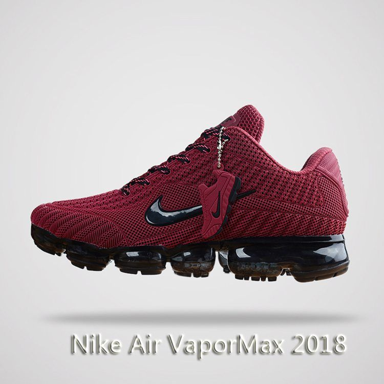 free shipping b4bcf 71148 Nike Air Vapormax 2018 Men Running Shoes Wine Black