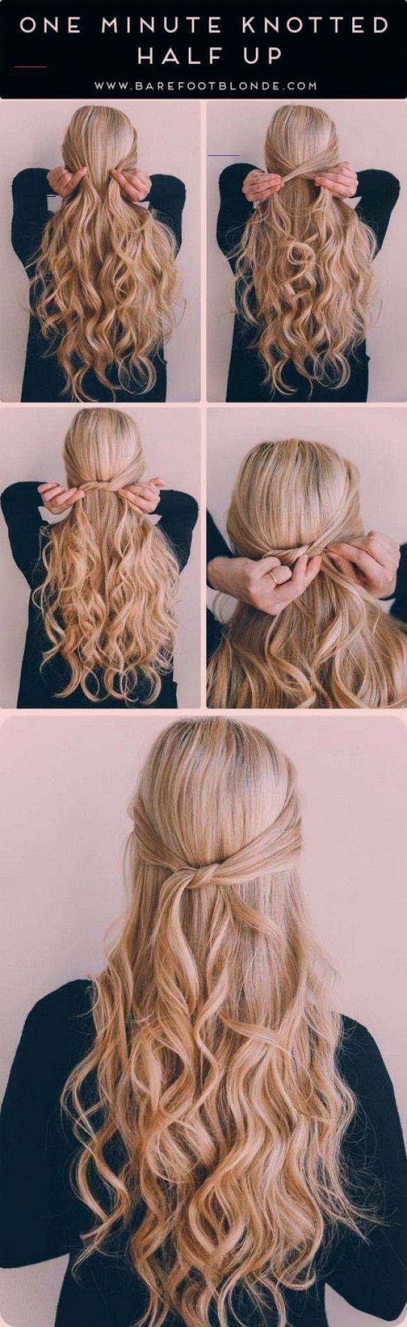 Photo of Erstaunliche halb hoch halb halb Frisuren für langes Haar – eine Minute geknotet halb hoch …