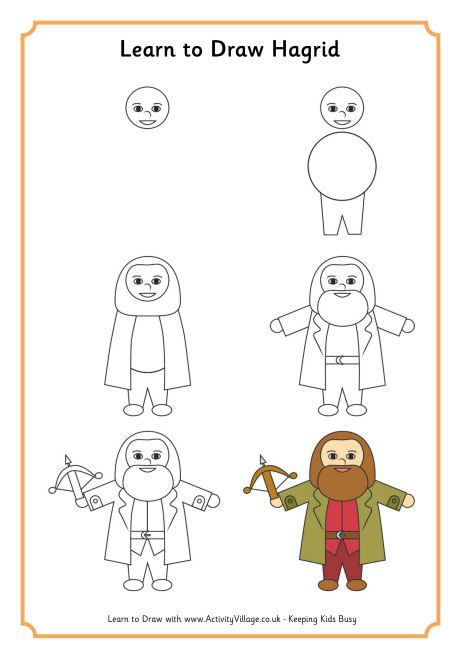 Learn To Draw Hagrid Drawings In 2019 Pinterest Harry Potter