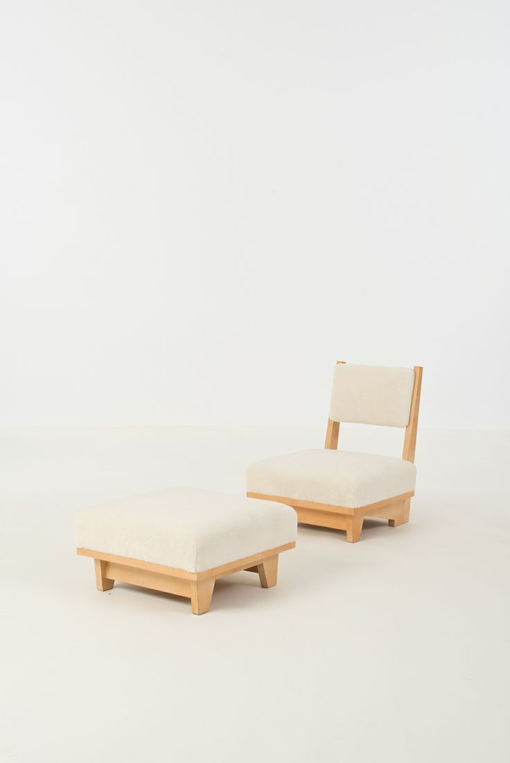 andré sornay maple lounge chair and ottoman 1948 unique benches