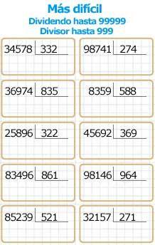 26 Ideas De Estudio Ejercicios Matematicas Primaria Compresion De Lectura Ejercicios De Divisiones