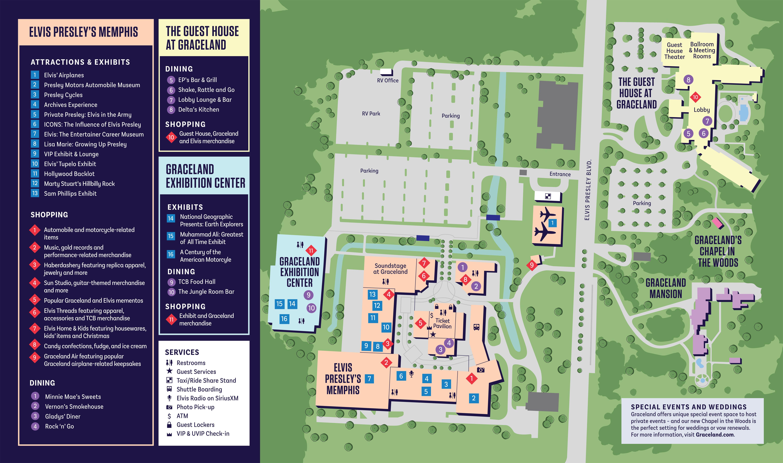 Find Your Way Around The Graceland Campus Graceland Elvis