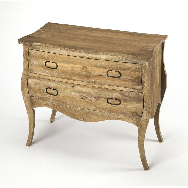 Best Curvaceous And Classic Leena 2 Drawer Accent Chest Chest 400 x 300