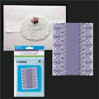 Craft Too Universal Embossing Folder Christmas Background CTFD4007