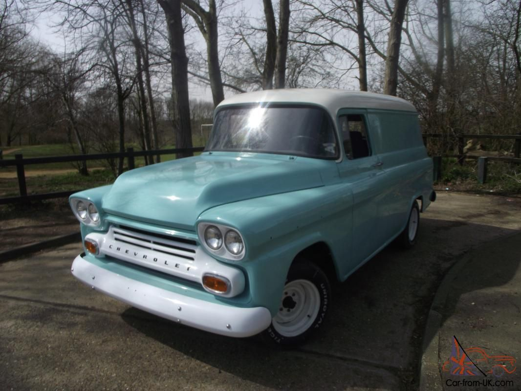 1959 Chevy Apache Panel Van For Sale Chevy Panel Truck Vintage