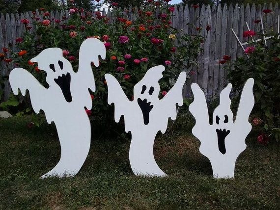 Halloween Rising Ghosts Halloween Outdoor Wood Yard Art Lawn