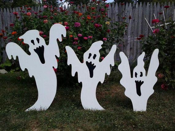 Halloween Rising Ghosts Halloween Outdoor Wood Yard Art Lawn