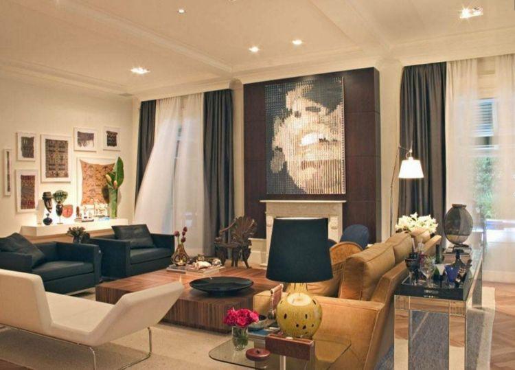 Wohnzimmer Gardinen und Vorhänge \u2013 26 Ideen für unterschiedliche - deko ideen vorhange wohnzimmer
