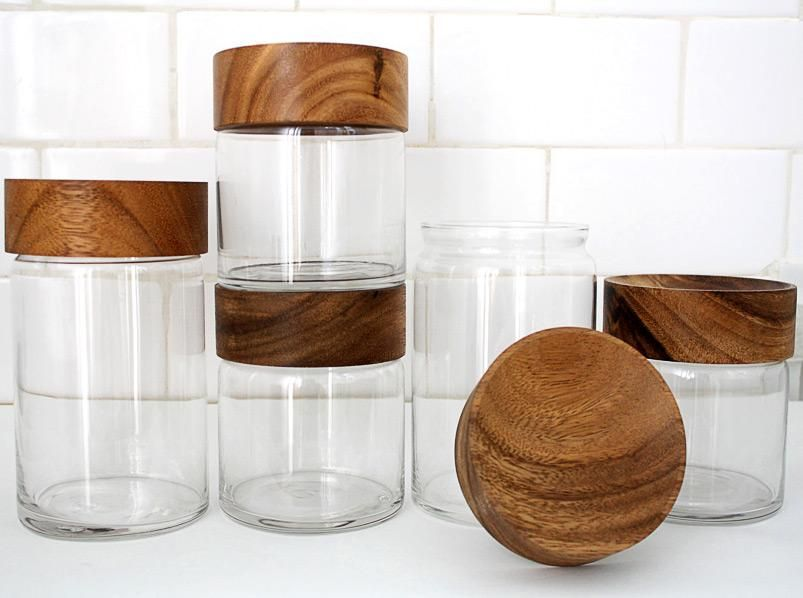 4 Wood Gl Canisters Fra Http Merchant4