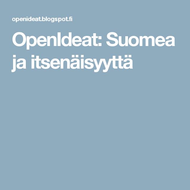 OpenIdeat: Suomea ja itsenäisyyttä