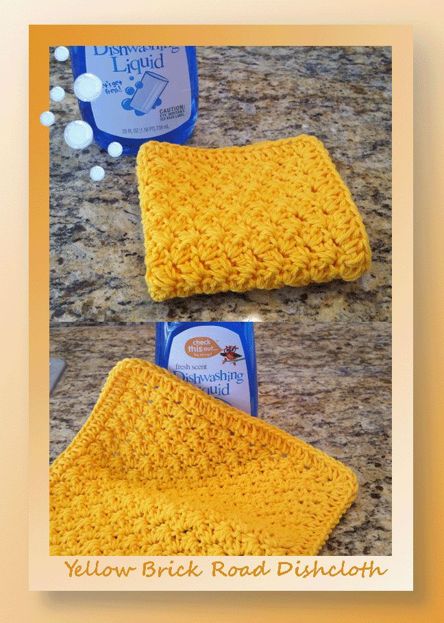 Our Yellow Brick Road Dishcloth is just the right blend of pretty ...
