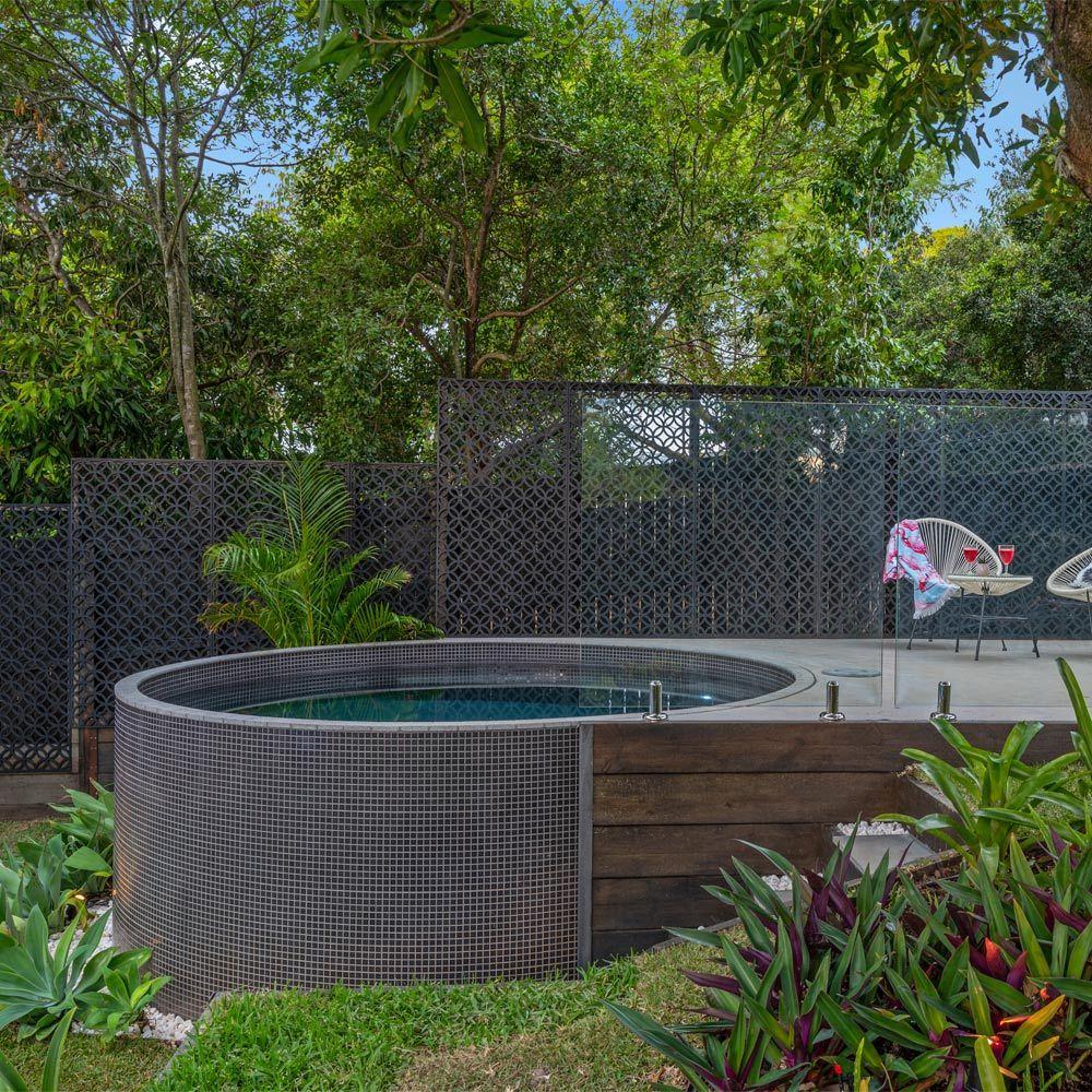 Plunge Pools Queensland Sunshine Coast And Brisbane Allcast Precast Small Backyard Pools Plunge Pool Pool Landscaping