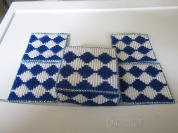 BLUE & WHITE JEWISH Holiday Plastic canvas by CREATIONSBYJEANNIE, $8.00