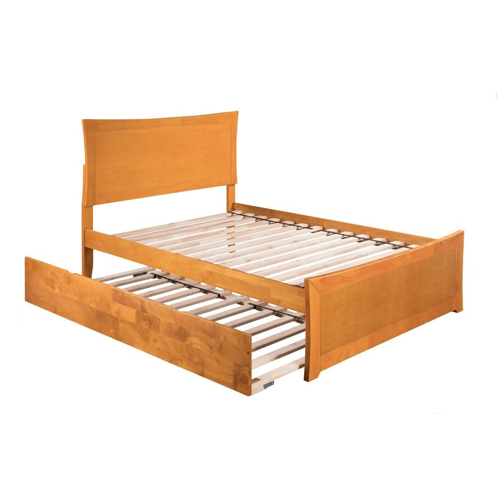 Atlantic Furniture Metro Caramel Full Platform Bed With Matching Foot Board With Twin Size Urban Trundle Bed Ar9036017 Atlantic Furniture Full Platform Bed Twin Platform Bed