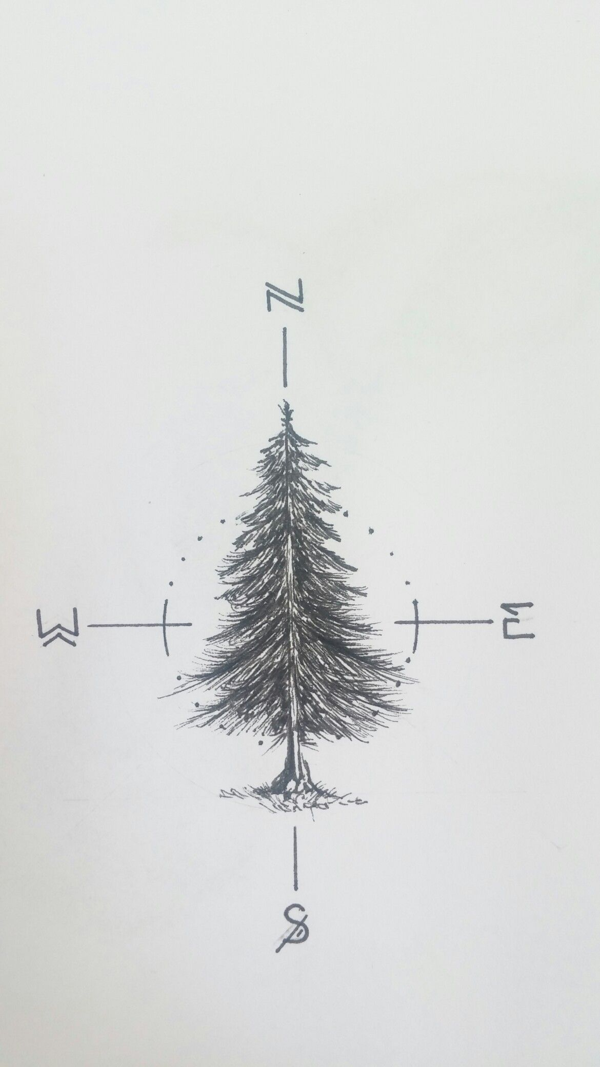 Working on a fir tree tattoo for myself #fir… | Tattoos | Pinterest ...