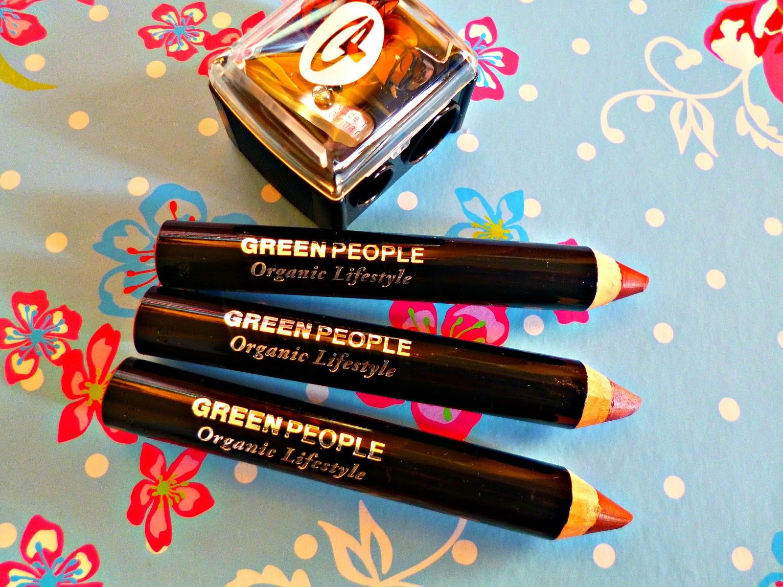New in Green People instant definition lip crayons and