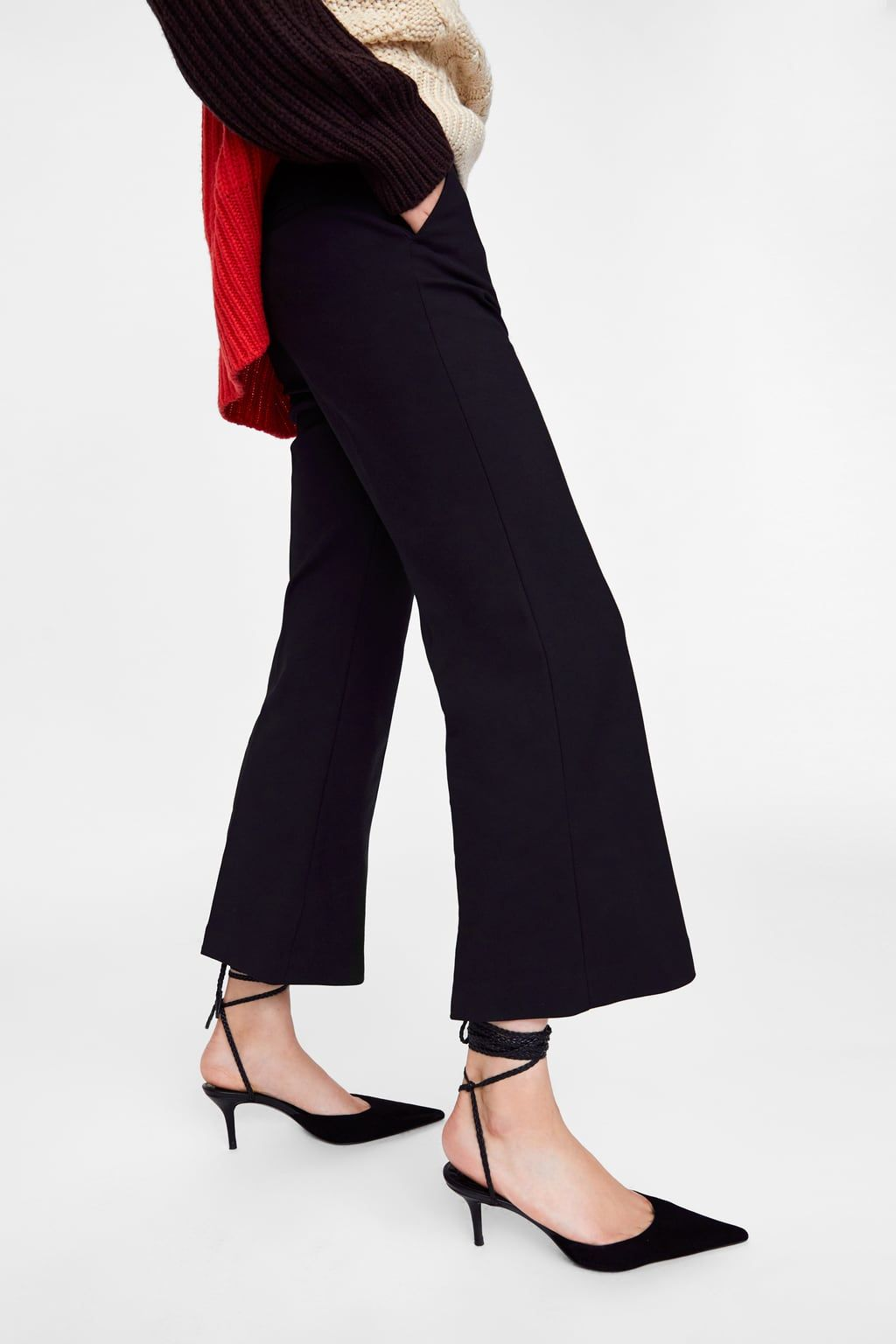 f3d86962 Image 4 of CROPPED FLARE PANTS from Zara | Wardrobe | Cropped flare ...