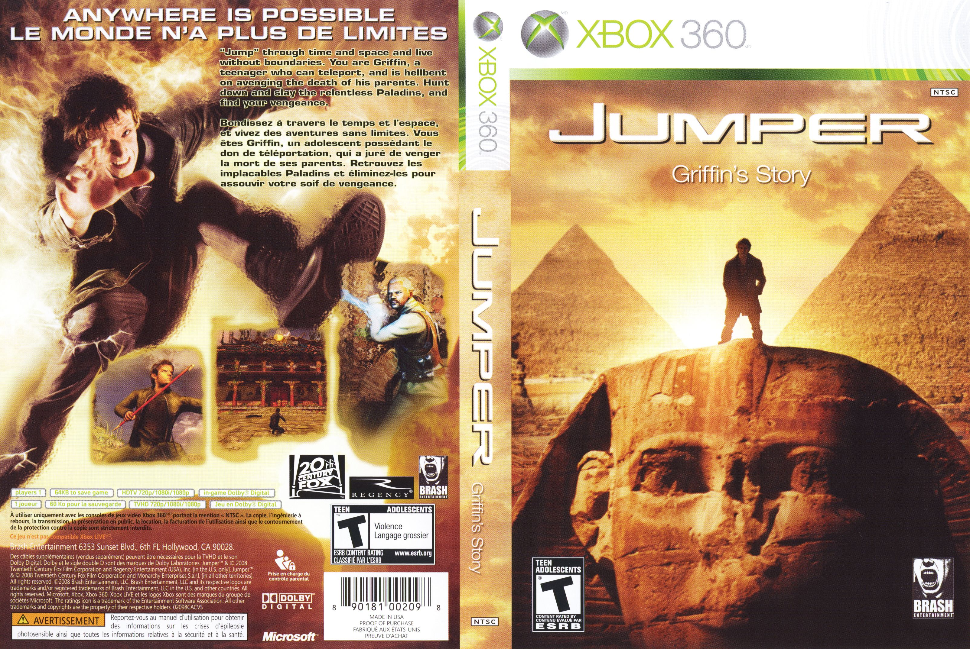Jumper Griffin S Story Movie Posters Xbox Videogames