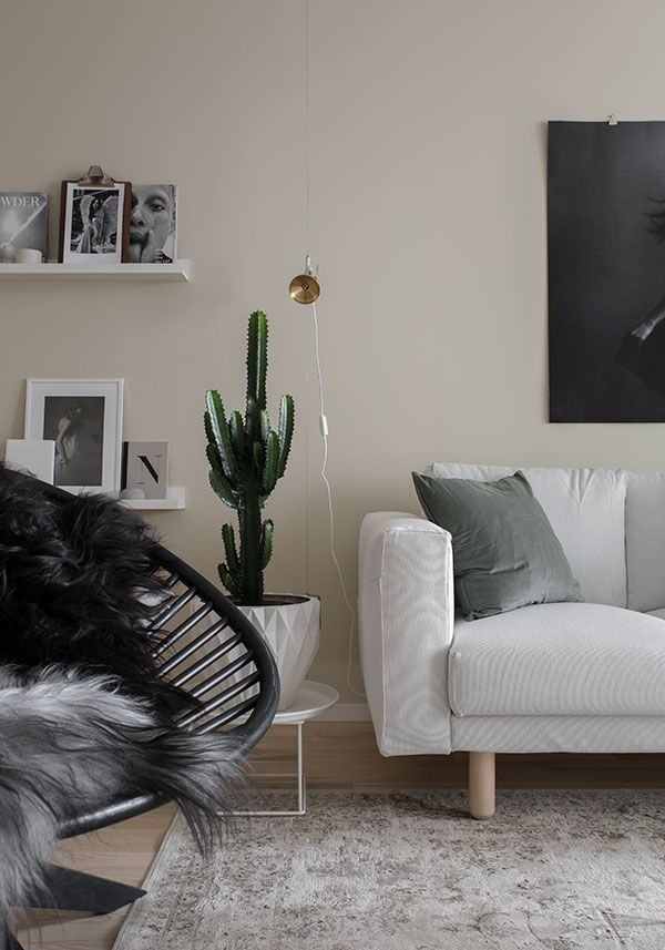 Living Room Sand Beige Walls This Modern Scandinavian Style Apartment Is A Display Home In Suburban Part Of Stockholm Styled By Talented Marie Ramse For