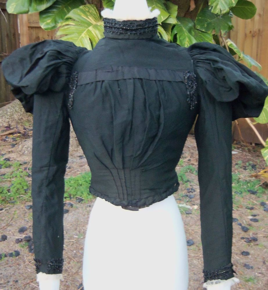 Original High Victorian Day Bodice C 1890s Wicked Stepmother | eBay