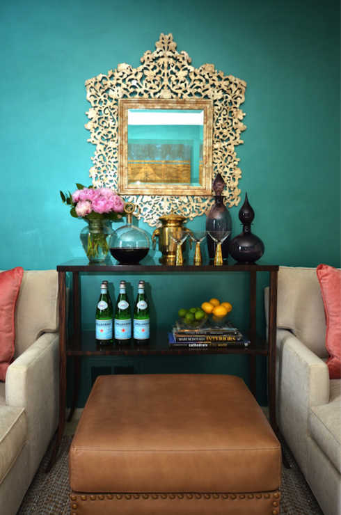 Dalliance Design   Living Rooms   Teal Walls, Teal Living Room Walls, Gold  Mirror