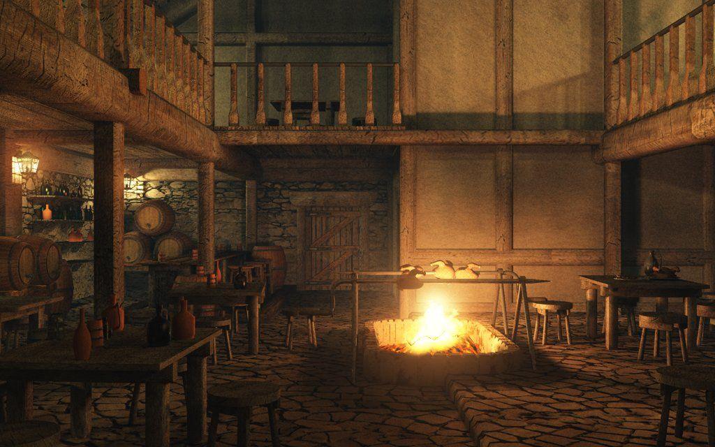 Eon Vue 3d Model Medieval Tavern Interior Image01