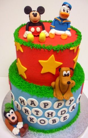 Disney Characters Cake  from The Cupcake Shoppe in Raleigh