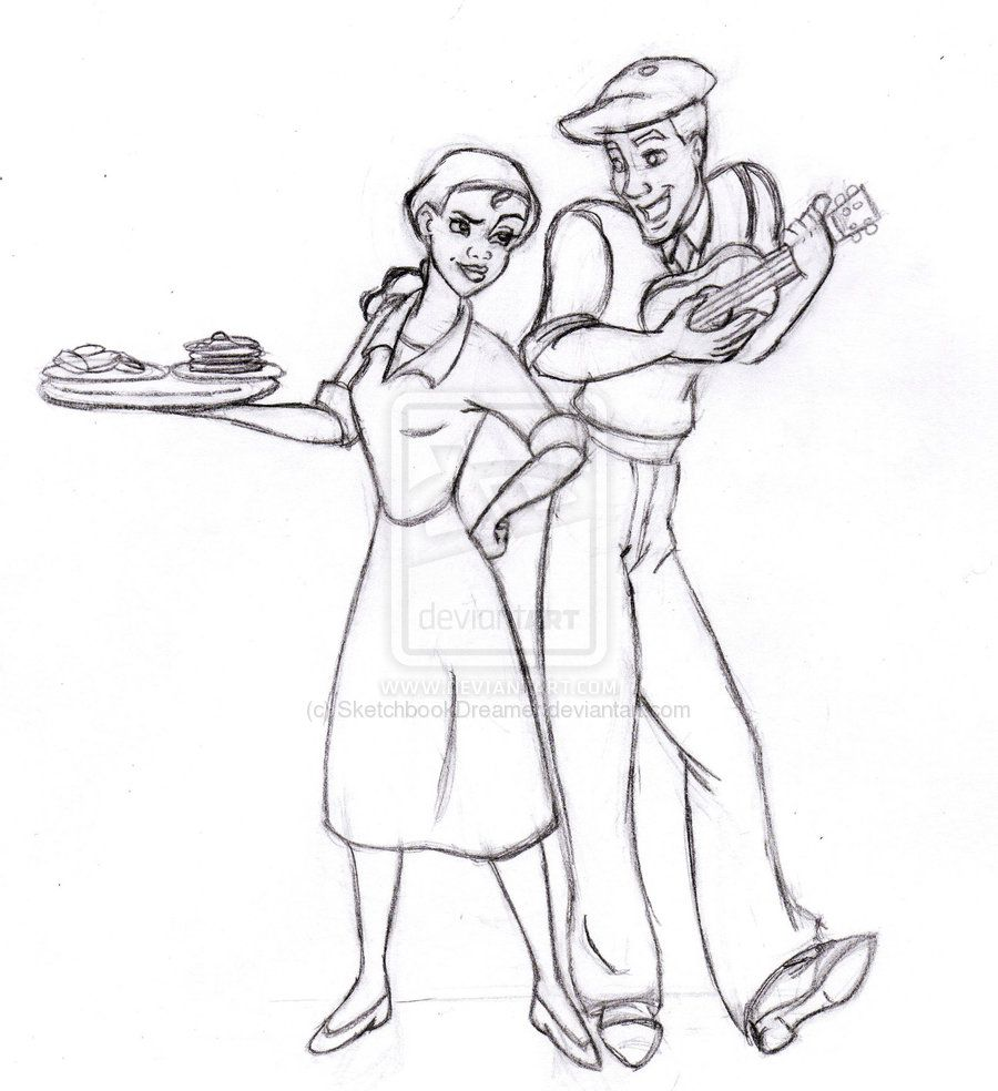 Tiana and Naveen Coloring Pages | Tiana and Naveen by ...