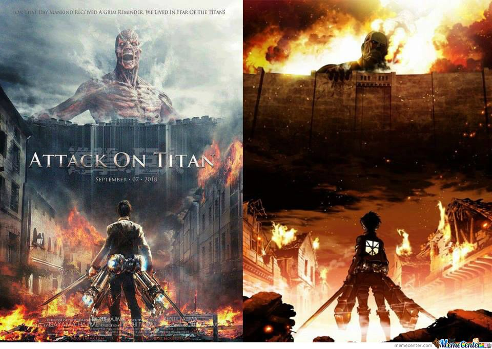 Which one is better   Attack on Titan   Pinterest   Live action and Anime