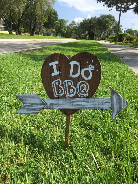 I Do BBQ Wooden Yard Sign By MoonandGray On Etsy Shabby Chic WeddingsEngagement PartiesBbqParty IdeasSignWedding