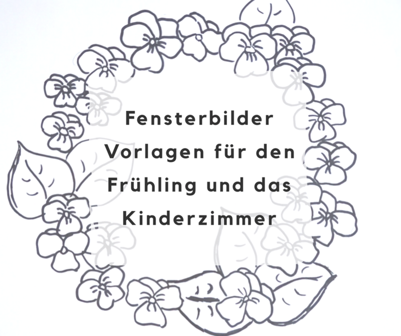 Fensterbilder Vorlagen Fur Den Fruhling Und Das Kinderzimmer Deko Hus Fensterbilder Vorlagen Fensterbilder Fensterbilder Kinderzimmer