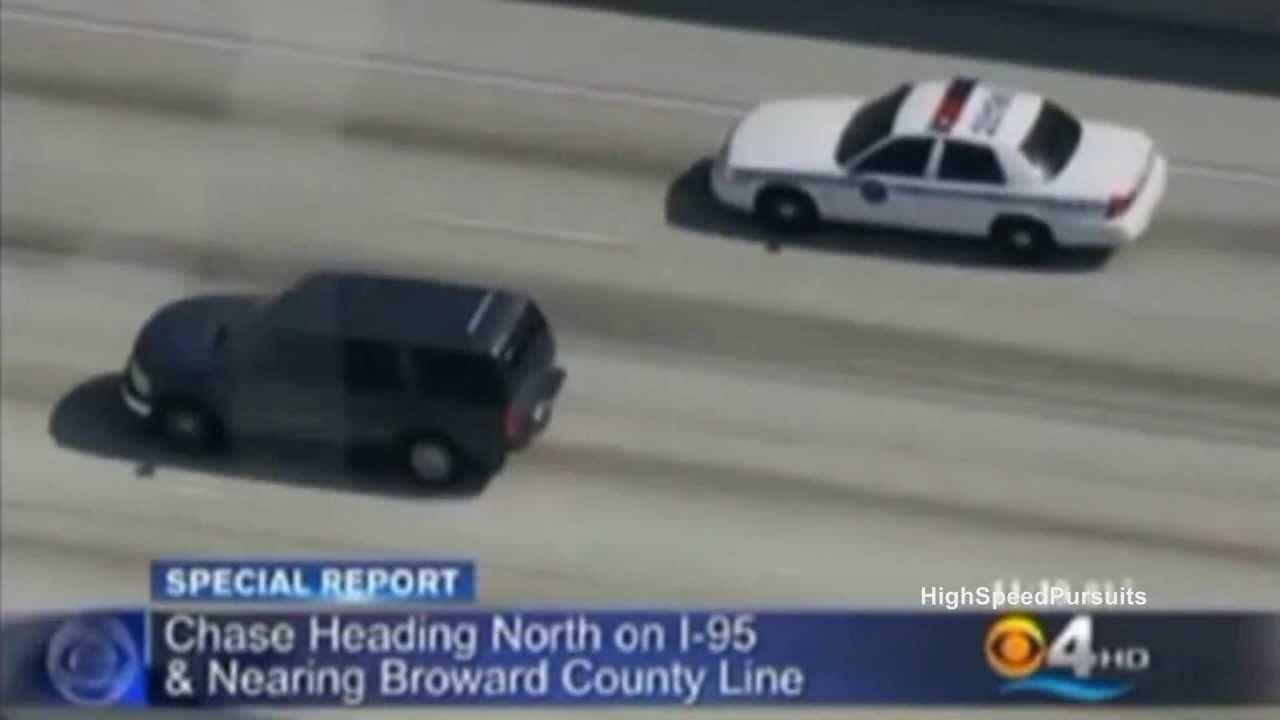 Miami Florida High Speed Police Chase Armed Robbers Local News Broward County Police Broward