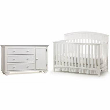 Graco Cribs 2 Piece Nursery Set Charleston Convertible Crib And
