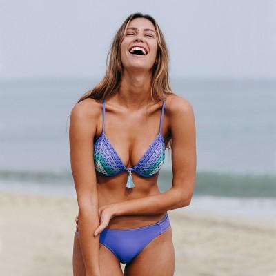 ef4714be92851 Women's Shore Light Lift Crochet Bikini Top - Shade & Shore Blue 38C ...