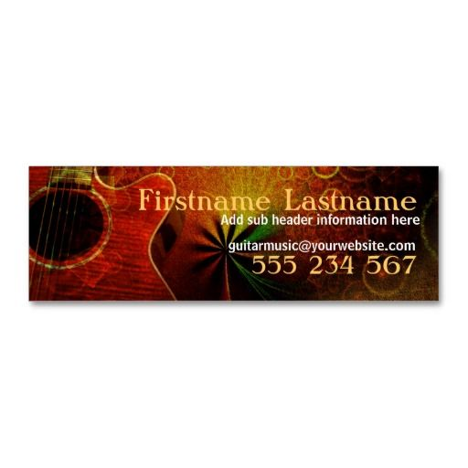 Guitar Music Sounds Mini Business Cards Bizcardstudio Co Uk Rustic Business Cards Mini Business Card Business Cards