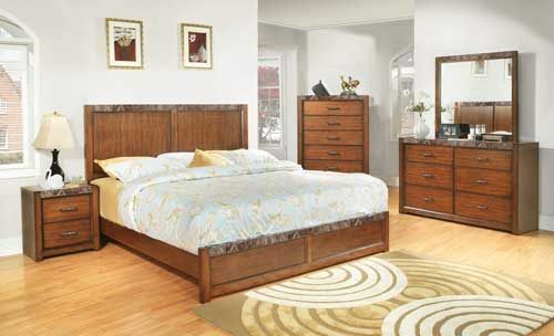 C2111A Bedroom W/ Faux Marble Accents  Puritan Furniture  CT.u0027s Largest