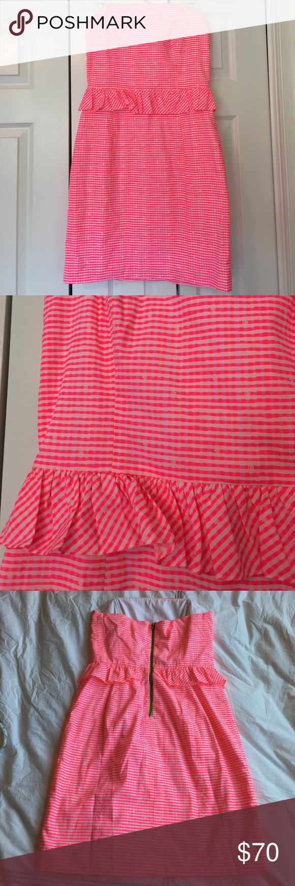 Lilly Pulitzer Lowe dress in fiesta pink gingham
