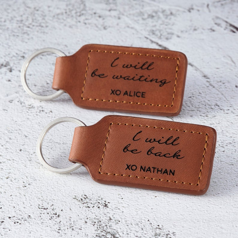 Anniversary Long Distance Couples Keychains, Long Distance