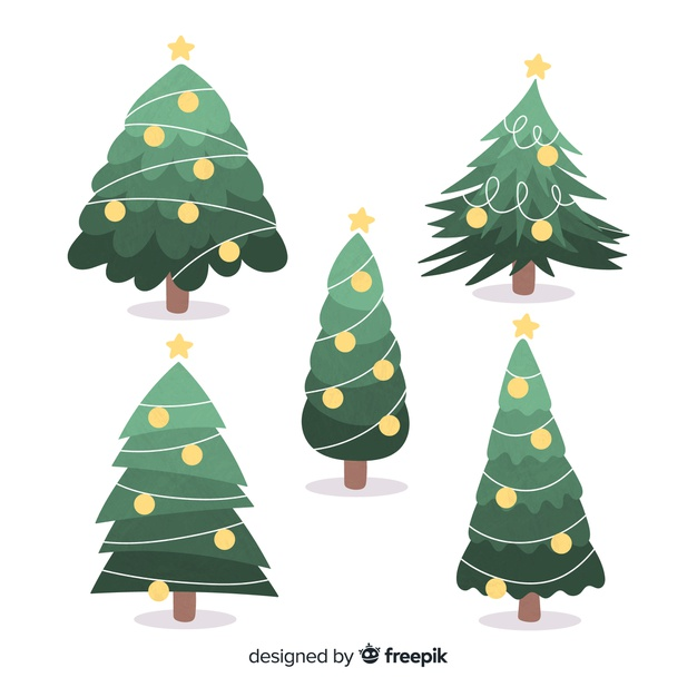 Download Hand Drawn Christmas Tree Collection For Free Illyustracii Risunki