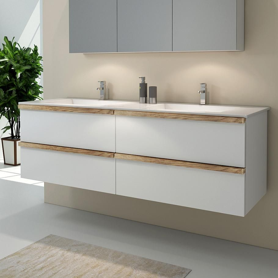 Alessia 1200 Double Vanity In 2020 Wall Hung Vanity Glass Basin Vanity