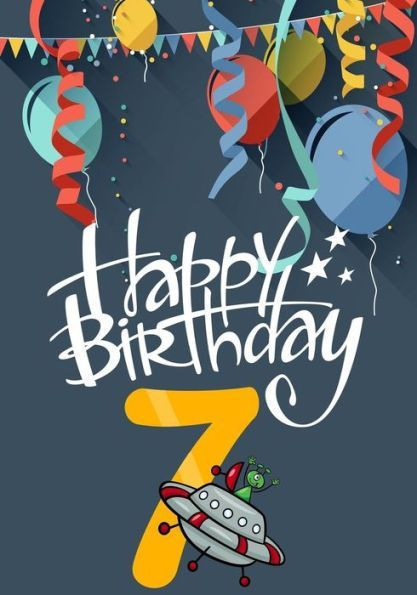 Happy Birthday 7 Books For Boys Journal Notebook