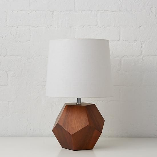 Shop wooden geometric table lamp base this unique wooden geometric shop wooden geometric table lamp base this unique wooden geometric shaped table lamp base integrates aloadofball Image collections