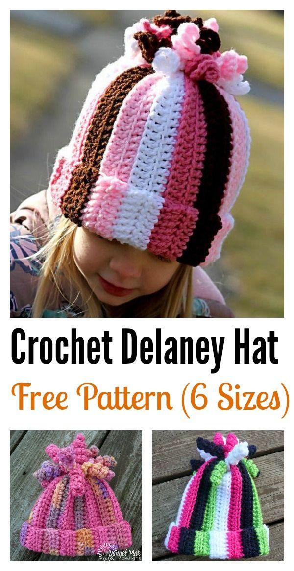 Cute Delaney Hat Free Crochet Pattern | Mütze, Häkeln und Häkelmuster