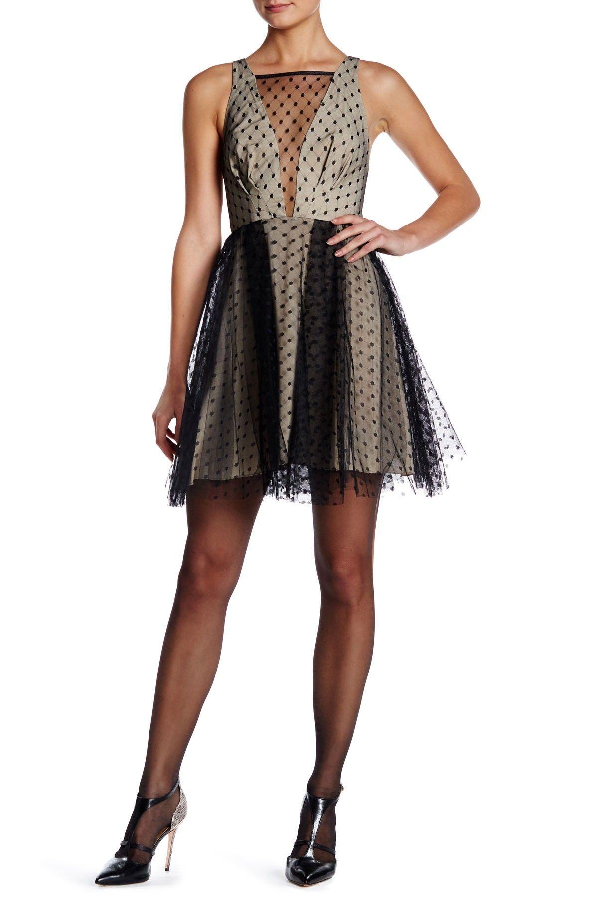 Dotted Lace Cocktail Dress by ABS by Allen Schwartz on ...