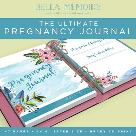 printable pregnancy journal botanical collection by