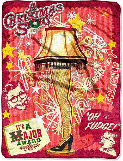 Christmas Story Lamp Throw Christmas Decor Pinterest Christmas