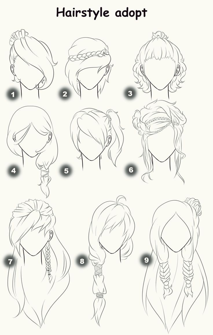 Hairstyle Adopts Closed By X3misteryyuyux3 D On Deviantart Sketches Drawings How To Draw Hair