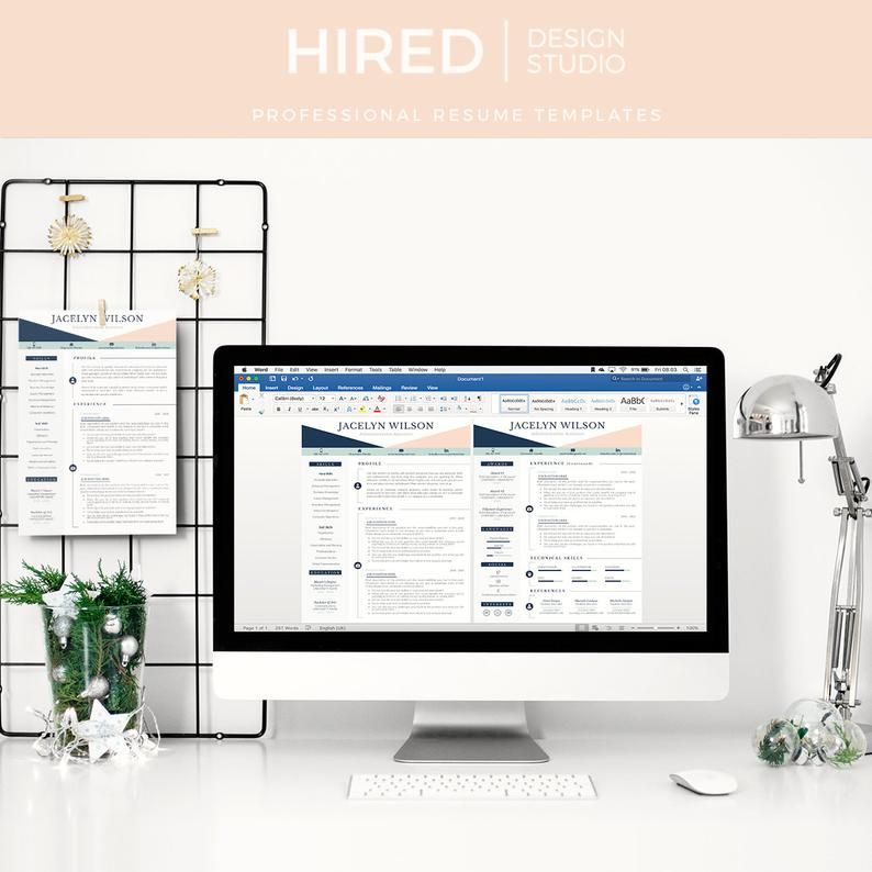 Executive Assistant Resume Template for Word and Pages 1