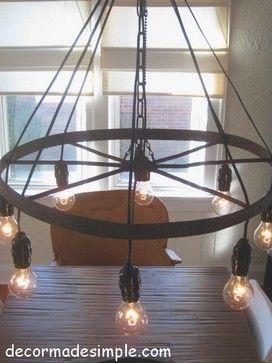 wagon wheel chandelier design ideas pictures remodel and decor rh pinterest com