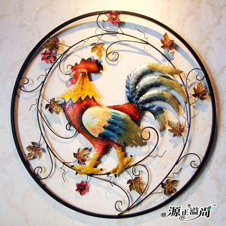 Cheap europea retro decorativo forjado adornos de jard n for Decoracion pared metal